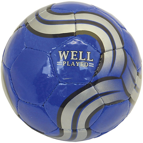 Футбольный мяч Atlas Well Played, размер 5Мячи детские<br>Характеристики:<br><br>• тип игрушки: футбольный мяч;<br>• возраст: от 3 лет;<br>• цвет: синий, серебристый;<br>• количество панелей: 32;<br>•  количество подкладочных слоев: 4;<br>• диаметр: 68 см;<br>• тип соединения панелей: сшитый;<br>• материал: полиуретан;<br>• размер: 5;<br>• вес: 425 гр;<br>• бренд: Atlas.<br><br>Футбольный мяч Atlas Well Played, размер 5 предназначен для проведения соревнований и игр команд среднего и любительского уровней, отлично подходит и для интенсивных тренировок. Покрышка выполнена из глянцевой синтетической кожи (полиуретан), ручная сшивка, 32 панели, 4 подкладочных слоя, размер 5 (68см).<br> <br>Подходит для игры на любых поверхностях, но особенно рекомендуется для натуральных и искусственных газонов, полей с синтетическим покрытием различной степени жесткости. Подходит для игры в любых погодных условиях.<br><br>Футбольный мяч Atlas Well Played, размер 5 можно купить в нашем интернет-магазине.<br>Ширина мм: 229; Глубина мм: 229; Высота мм: 75; Вес г: 300; Возраст от месяцев: 36; Возраст до месяцев: 2147483647; Пол: Мужской; Возраст: Детский; SKU: 7687372;