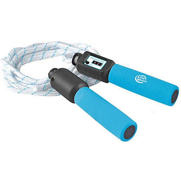 Скакалка со счетчиком Lite WeightsСкакалки<br>Характеристики:<br><br>• тип игрушки: скакалка;<br>• возраст: от 3 лет;<br>• цвет: белый;<br>• длина: 2,7 м (регулируется);<br>• материал: полипропилен;<br>• вес: 150 гр;<br>• бренд: Z-Sports.<br><br>Скакалка со счетчиком Lite Weights предназначена для спорта и развлечений. Прыжки со скакалкой позволяют задействовать большое количество основных мышц. Упражнения со скакалками по типу нагрузки схожи с бегом. Преимущества работы со скакалкой: прыгая, можно сжигать до 1000 ккал в час: при такой тренировке увеличивается частота пульса, а нагрузка на суставы приходится совсем небольшая. <br><br>Прыжки развивают гибкость, осанку, чувство равновесия и координацию движений. Упражнения со скакалкой позволяют эффективно прорабатывать икры, плечи, мышцы рук и брюшного пресса; Прыжки со скакалкой - лучший способ разминки при силовых тренировках!<br><br>Скакалку со счетчиком Lite Weights можно купить в нашем интернет-магазине.<br>Ширина мм: 185; Глубина мм: 124; Высота мм: 40; Вес г: 173; Возраст от месяцев: 36; Возраст до месяцев: 2147483647; Пол: Унисекс; Возраст: Детский; SKU: 7687420;