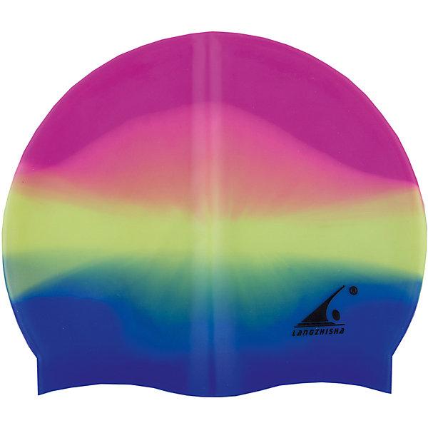 Силиконовая шапочка для плавания Dobest, мультиколор