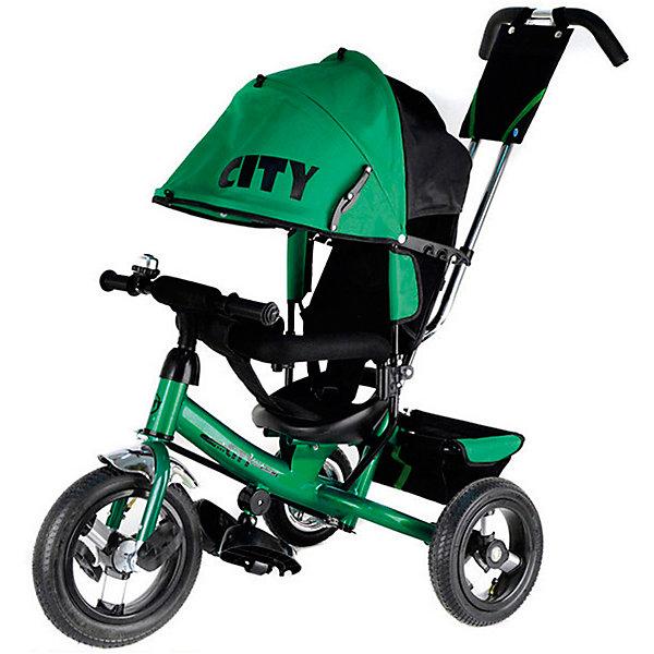 Трехколесный велосипед Lamborghini, зеленыйВелосипеды детские<br>Характеристики товара:<br><br>• возраст: от 1 года;<br>• максимальная нагрузка: до 30 кг;<br>• материал: пластик, металл, полиэстер;<br>• регулировка ручки-толкателя от 104 до 108 см;<br>• регулировка наклона спинки в 3 позициях;<br>• 5-ти точечные ремни безопасности;<br>• солнцезащитный тент;• складные подножки;• тип колес: надувные резиновые;<br>• диаметр переднего колеса: 12 дюймов, заднего колеса: 10 дюймов;<br>• стояночный тормоз;• размер велосипеда: 102х51х85 см;• вес велосипеда: 9,3 кг;<br>• размер упаковки: 60х30х41 см;<br>• вес упаковки: 12,4 кг.<br><br>Трехколесный велосипед Lamborghini JD7 зеленый — оригинальное транспортное средство для прогулок на свежем воздухе. Велосипед оснащен удобным сидением, ручкой для родителей и тентом для защиты от солнечных лучей и непогоды. Когда малыш только учится кататься, родители могут контролировать его движения при помощи ручки-толкателя.<br><br>Спинка сидения опускается в 3 положениях, позволяя подобрать оптимальное для ребенка. В сидении он фиксируется ремнем безопасности и перекладиной. Для самых маленьких есть складные подножки, чтобы ножки не свисали. Большие надувные колеса отличаются хорошей проходимостью и обеспечивают ровный ход.<br><br>На руле звоночек, при помощи которого ребенок сможет предупреждать прохожих о своем передвижении. На ручке-толкателе есть небольшая сумочка для мелочей, а за сидением пластиковая корзинка для вещей или игрушек.<br><br>Трехколесный велосипед LamborghiniJD7 зеленый можно приобрести в нашем интернет-магазине.<br>Ширина мм: 600; Глубина мм: 300; Высота мм: 410; Вес г: 12400; Цвет: зеленый; Возраст от месяцев: 12; Возраст до месяцев: 36; Пол: Унисекс; Возраст: Детский; SKU: 7688222;