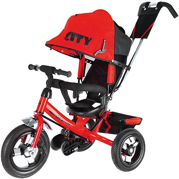 Трехколесный велосипед Lamborghini,красныйВелосипеды детские<br>Характеристики товара:<br><br>• возраст: от 1 года;<br>• максимальная нагрузка: до 30 кг;<br>• материал: пластик, металл, полиэстер;<br>• регулировка ручки-толкателя от 104 до 108 см;<br>• регулировка наклона спинки в 3 позициях;<br>• 5-ти точечные ремни безопасности;<br>• солнцезащитный тент;• складные подножки;• тип колес: надувные резиновые;<br>• диаметр переднего колеса: 12 дюймов, заднего колеса: 10 дюймов;<br>• стояночный тормоз;• размер велосипеда: 102х51х85 см;• вес велосипеда: 9,3 кг;<br>• размер упаковки: 60х30х41 см;<br>• вес упаковки: 12,4 кг.<br><br>Трехколесный велосипед Lamborghini JD7 красный — оригинальное транспортное средство для прогулок на свежем воздухе. Велосипед оснащен удобным сидением, ручкой для родителей и тентом для защиты от солнечных лучей и непогоды. Когда малыш только учится кататься, родители могут контролировать его движения при помощи ручки-толкателя. <br><br>Спинка сидения опускается в 3 положениях, позволяя подобрать оптимальное для ребенка. В сидении он фиксируется ремнем безопасности и перекладиной. Для самых маленьких есть складные подножки, чтобы ножки не свисали. Большие надувные колеса отличаются хорошей проходимостью и обеспечивают ровный ход.<br><br>На руле звоночек, при помощи которого ребенок сможет предупреждать прохожих о своем передвижении. На ручке-толкателе есть небольшая сумочка для мелочей, а за сидением пластиковая корзинка для вещей или игрушек.<br><br>Трехколесный велосипед LamborghiniJD7 красныйможно приобрести в нашем интернет-магазине.<br>Ширина мм: 600; Глубина мм: 300; Высота мм: 410; Вес г: 12400; Цвет: красный; Возраст от месяцев: 12; Возраст до месяцев: 36; Пол: Унисекс; Возраст: Детский; SKU: 7688228;