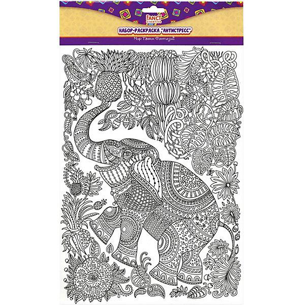 Набор раскрасок формата А4  Fancy Creative АнтистрессРаскраски-антистресс<br>Характеристики:<br><br>• раскраски-антистресс;<br>• черно-белые контуры рисунков;<br>• формат А4;<br>• тема набора: животные;<br>• в комплекте 5 листов: попугай, лев, петух, слон и рыбки;<br>• материал: бумага;<br>• тип упаковки: пакет с хедером и е/п;<br>• размер упаковки: 21х31 см.<br><br>Раскраски Fancy Creative представлены коллекцией «Антистресс». Мелкие области для раскрашивания заполняются цветом, для рисования используются цветные карандаши, тонкие фломастеры или гелевые ручки. В процессе работы развивается усидчивость, сосредоточенность, ребенок отвлекается от грустных мыслей. <br><br>Набор раскрасок формата А4  Fancy Creative «Антистресс» можно купить в нашем интернет-магазине.<br>Ширина мм: 210; Глубина мм: 10; Высота мм: 310; Вес г: 79; Цвет: белый; Возраст от месяцев: 36; Возраст до месяцев: 2147483647; Пол: Унисекс; Возраст: Детский; SKU: 7701558;