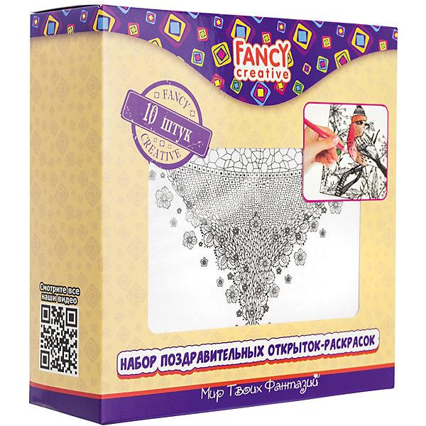 Набор открыток-раскрасок Fancy Creative Всё о любвиРаскраски для детей<br>Характеристики:<br><br>• раскраски-антистресс;<br>• черно-белые контуры рисунков;<br>• тема набора: сердечки;<br>• в комплекте 10 листов;<br>• материал: бумага, картон;<br>• тип упаковки: картонная коробка;<br>• размер упаковки: 14х14 см.<br><br>Признание в любви можно оформить различными способами. Набор для творчества «Мир твоих фантазий» предлагает набор поздравительных открыток-раскрасок. В комплекте 10 листов с сердечками, бантиками и надписями Love. Черно-белые рисунки выполнены очень четко, с соблюдением пропорций и гармонии. <br><br>Набор открыток-раскрасок Fancy Creative «Всё о любви» можно купить в нашем интернет-магазине.<br>Ширина мм: 140; Глубина мм: 30; Высота мм: 140; Вес г: 187; Цвет: белый; Возраст от месяцев: 36; Возраст до месяцев: 2147483647; Пол: Унисекс; Возраст: Детский; SKU: 7701566;