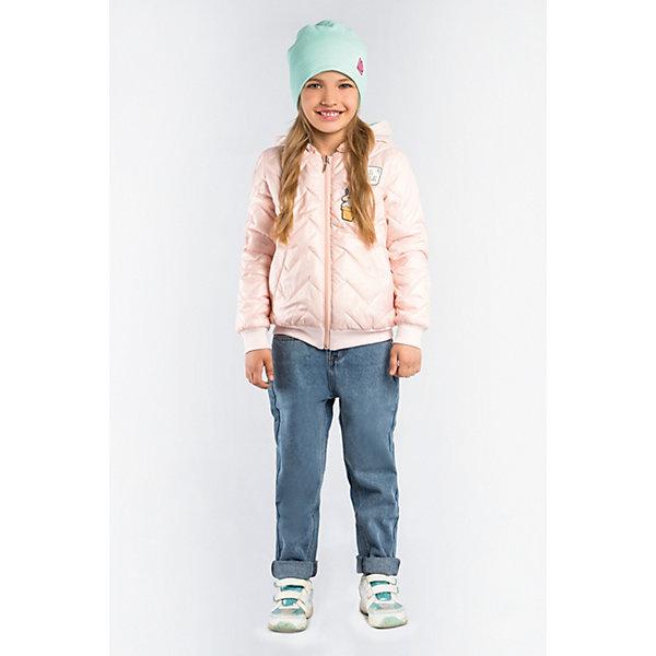 Куртка BOOM by Orby для девочкиВерхняя одежда<br>Характеристики товара:<br><br>• цвет: персиковый;<br>• ткань верха: тафетта (100% ПЭ);<br>• отделка: вязаное полотно;<br>• подкладка: поликоттон; ПЭ пуходержащий (90% хлопок, 10% ПЭ);<br>• утеплитель: Flexy Fiber 100 г/м2;<br>• сезон: демисезон;<br>• температурный режим: от -5 до +10°С;<br>• эластичные манжеты;<br>• два кармана;<br>• дополнительная утяжка по низу изделия; <br>• особенности: на молнии, принт, нашивки на груди;<br>• тип куртки: бомбер, стеганая;<br>• капюшон: несъемный;<br>• страна бренда: Россия.<br><br>Стеганая куртка-бомбер BOOM by Orby для девочки выполнена из практичной и износостойкой ткани, в актуалных цветах сезона. Оригинальная стёжка и забавные аппликации - сделают куртку  любимой вещью маленькой модницы. Гипоаллергенный утеплитель защитит в прохладную погоду. Модель обязательно станет любимицей детей и родителей, ведь в неё сочетаются стиль, доступность и практичность. Идеально сочетается с вещами в стиле casual: джинсы или брюки чинос, полуботинки и шапки-бини. <br><br>Стеганую куртку-бомбер BOOM by Orby (Бум бай Орби) для девочки можно купить в нашем интернет-магазине.<br>Ширина мм: 356; Глубина мм: 10; Высота мм: 245; Вес г: 519; Цвет: бежевый; Возраст от месяцев: 168; Возраст до месяцев: 180; Пол: Женский; Возраст: Детский; Размер: 170,110,116,122,128,134,140,146,152,158,164; SKU: 7708537;