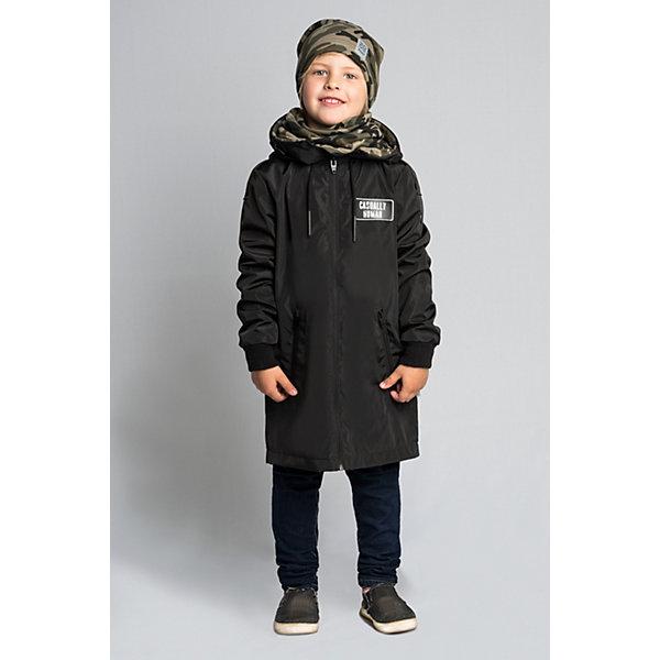 Плащ BOOM by Orby для мальчикаВерхняя одежда<br>Характеристики товара:<br><br>• цвет: черный/принт;<br>• ткань верха: твил pu (100% ПЭ);<br>• подкладка: поликоттон, ПЭ пуходержащий (90% хлопок, 10% ПЭ);<br>• оттелка: футер петельный принт (95% хлопок, 10% ПЭ);<br>• сезон: демисезон;<br>• температурный режим: от +10°С;<br>• эластичные манжеты;<br>• два кармана;<br>• нагрудная нашивка, принт сзади на спине; <br>• особенности: на молнии, принт;<br>• тип куртки: плащ;<br>• капюшон: несъемный, с утяжкой;<br>• страна бренда: Россия.<br><br>Плащ BOOM by Orby для мальчика из колекции Весна-Осень 2018 - актуальный тренд сезона! обладает необычным стильным дизайном. Удлиненный плащ для мальчика с отделкой из футера – комфортное решение в одежде, которая не промокнет под дождем и останется непродуваемой даже при сильном ветре. <br><br>Изделие не имеет утеплителя, но отлично удерживает тепло благодаря флису и плотному внешнему материалу.<br><br>Плащ BOOM by Orby (Бум бай Орби) для мальчика можно купить в нашем интернет-магазине.<br>Ширина мм: 356; Глубина мм: 10; Высота мм: 245; Вес г: 519; Цвет: черный; Возраст от месяцев: 132; Возраст до месяцев: 144; Пол: Мужской; Возраст: Детский; Размер: 152,146,140,134,128,122,158; SKU: 7708706;