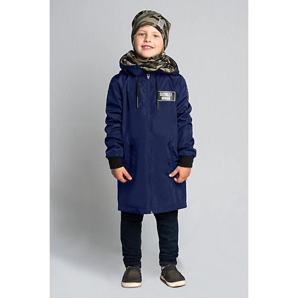 Плащ BOOM by Orby для мальчикаВерхняя одежда<br>Характеристики товара:<br><br>• цвет: темно-синий/принт;<br>• ткань верха: твил pu (100% ПЭ);<br>• подкладка: поликоттон, ПЭ пуходержащий (90% хлопок, 10% ПЭ);<br>• оттелка: футер петельный принт (95% хлопок, 10% ПЭ);<br>• сезон: демисезон;<br>• температурный режим: от +10°С;<br>• эластичные манжеты;<br>• два кармана;<br>• нагрудная нашивка, принт сзади на спине; <br>• особенности: на молнии, принт;<br>• тип куртки: плащ;<br>• капюшон: несъемный, с утяжкой;<br>• страна бренда: Россия.<br><br>Плащ BOOM by Orby для мальчика из колекции Весна-Осень 2018 - актуальный тренд сезона! обладает необычным стильным дизайном. Удлиненный плащ для мальчика с отделкой из футера – комфортное решение в одежде, которая не промокнет под дождем и останется непродуваемой даже при сильном ветре. <br><br>Изделие не имеет утеплителя, но отлично удерживает тепло благодаря флису и плотному внешнему материалу.<br><br>Плащ  BOOM by Orby (Бум бай Орби) для мальчика можно купить в нашем интернет-магазине.<br>Ширина мм: 356; Глубина мм: 10; Высота мм: 245; Вес г: 519; Цвет: темно-синий; Возраст от месяцев: 72; Возраст до месяцев: 84; Пол: Мужской; Возраст: Детский; Размер: 122,158,152,146,140,134,128; SKU: 7708722;