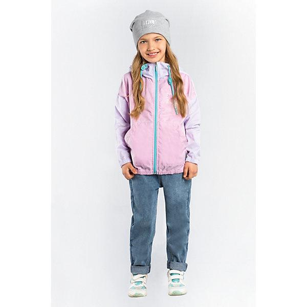 Куртка BOOM by Orby для девочкиВерхняя одежда<br>Характеристики товара:<br><br>• цвет: сиреневый/розовый;<br>• ткань верха: транспарент (100% ПЭ);<br>• подкладка: поликоттон, ПЭ пуходержащий (90% хлопок, 10% ПЭ);<br>• сезон: демисезон;<br>• температурный режим: от +10°С;<br>• эластичные манжеты;<br>• два кармана;<br>• дополнительная утяжка по низу изделия; <br>• разноцветная подкладка; <br>• особенности: контрастная молния, нашивка на груди;<br>• тип куртки: ветровка;<br>• капюшон: с утяжкой на шнурке, несъемный;<br>• страна бренда: Россия.<br><br>Ветровка BOOM by Orby для девочки -  универсальный вариант и для прохладного летнего вечера, и для теплого межсезонья.  Изюминкой этой модели является оригинальная полупрозрачная ткань верха - транспарент, а также мягкая хлопковая разноцветная подкладка. Легкая, яркая ветровка идеально сочетается с вещами в стиле casual: джинсы или брюки чинос, полуботинки и шапки-бини. Стильный дизайн, комфорт и яркие цвета непримерно понравятся вашей моднице. <br><br>Ветровку BOOM by Orby (Бум бай Орби) для девочки можно купить в нашем интернет-магазине.<br>Ширина мм: 356; Глубина мм: 10; Высота мм: 245; Вес г: 519; Цвет: сиреневый; Возраст от месяцев: 12; Возраст до месяцев: 18; Пол: Женский; Возраст: Детский; Размер: 86,158,152,146,140,134,128,122,116,110,104,98,92; SKU: 7708920;