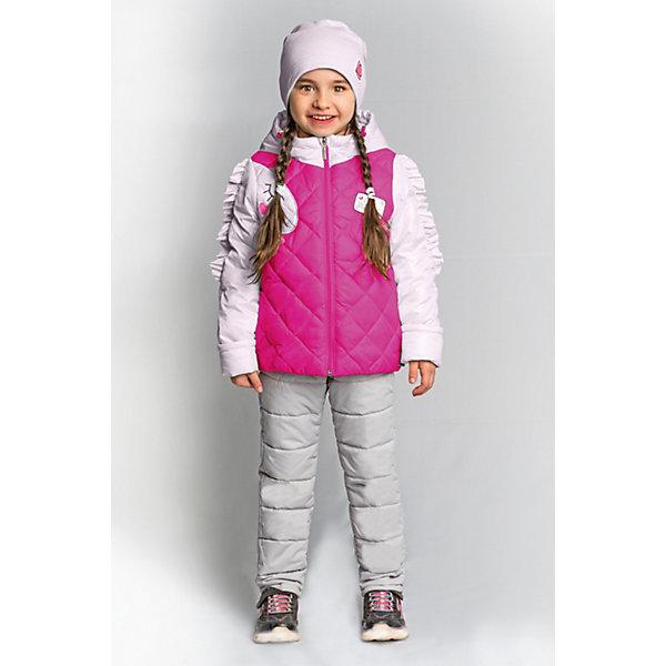 Комплект BOOM by Orby для девочкиВерхняя одежда<br>Характеристики товара:<br><br>• цвет: яр.розовый/ св.розовый/ серый;<br>• ткань верха (куртка): таффета oil cire pu; таффета pu milky (100% ПЭ);<br>• ткань верха (брюки):  таффета pu milky (100% ПЭ);<br>• подкладка (куртка): поликоттон; ПЭ пуходержащий (90% хлопок, 10% ПЭ);<br>• подкладка (брюки): поликоттон; ПЭ пуходержащий (90% хлопок, 10% ПЭ);<br>• утеплитель (куртка): Flexy Fiber 150 г/м2;<br>• утеплитель (брюки): Flexy Fiber 80 г/м2;<br>• сезон: демисезон;<br>• температурный режим: от -5 до +10°С;<br>• рюши на руковах;<br>• эластичные манжеты;<br>• два кармана;<br>• наличие манжетов-отворотов (куртка и брюки);<br>• тип куртки: стеганая;<br>• капюшон: съемный;<br>• страна бренда: Россия.<br><br>Комплект: куртка и брюки BOOM by Orby для девочки выполнен качественной и износостойкой ткани. Гипоаллергенный утеплитель куртки защитит в прохладную погоду. Нежный и теплый комплект для девочки в романтическом стиле. Особую изюминку модели придают рюши на рукавах, похожие на гриву единорога, и  конфетные  оттенки цвета. Благодаря наличию манжетов-отворотов на курточке и брючках, комплект прослужит не один сезон.   Комплект подойдет и для прогулок и для школы/сада. <br><br>Комплект: куртку и брюки BOOM by Orby для девочки можно купить в нашем интернет-магазине.<br>Ширина мм: 356; Глубина мм: 10; Высота мм: 245; Вес г: 519; Цвет: фиолетовый; Возраст от месяцев: 12; Возраст до месяцев: 18; Пол: Женский; Возраст: Детский; Размер: 86,110,104,98,92; SKU: 7709046;