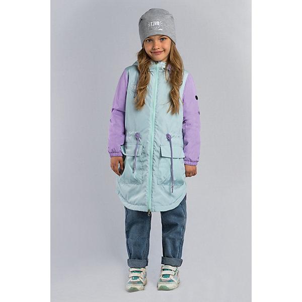 Куртка-парка BOOM by Orby для девочкиВерхняя одежда<br>Характеристики товара:<br><br>• цвет: мятный/сиреневый;<br>• ткань верха: твил (100% ПЭ);<br>• подстежка: пуходержащий ПЭ (100% ПЭ);<br>• утеплитель: Flexy Fiber 80 г/м2;<br>• сезон: демисезон;<br>• температурный режим: от +5°С;<br>• высокая горловина;<br>• два боковых кармана;<br>• нашивка на рукаве;<br>• особенности: на молнии, регулируемая талия на шнурке;<br>• тип куртки: парка;<br>• капюшон: с утяжкой на шнурке, несъемный;<br>• страна бренда: Россия.<br><br>Куртка-парка BOOM by Orby для девочки -  универсальный вариант для межсезонья.  Стильная удлиненная куртка-парка для девочки из практичной ткани твил, в актуальных цветах сезона. Прекрасный вариант как для малышек, так и для подростков. Модель создана специально так, чтобы подходить к любому стилю: деловому, спортивному, casual. Модный дизайн, оригинальные нашивки и комфорт непримерно понравятся вашему ребенку. <br><br>Куртку-парку BOOM by Orby для мальчика можно купить в нашем интернет-магазине.<br>Ширина мм: 356; Глубина мм: 10; Высота мм: 245; Вес г: 519; Цвет: зеленый; Возраст от месяцев: 132; Возраст до месяцев: 144; Пол: Женский; Возраст: Детский; Размер: 152,146,140,134,128,122,116,110,104,98,170,164,158; SKU: 7709122;
