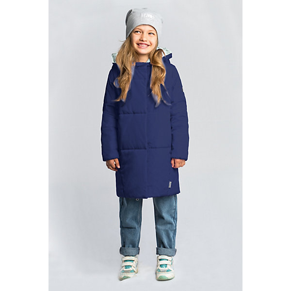 Пальто BOOM by Orby для девочкиВерхняя одежда<br>Характеристики товара:<br><br>• цвет: темно-синий/мятный;<br>• ткань верха: твил (100% ПЭ);<br>• подкладка: поликоттон; ПЭ пуходержащий (90% хлопок, 10% ПЭ);<br>• утеплитель: Flexy Fiber 150 г/м2;<br>• сезон: демисезон;<br>• температурный режим: от -5 до +10°С;<br>• два кармана;<br>• особенности: нашивка на груди;<br>• тип: пальто, стеганое;<br>• капюшон: несъемный;<br>• страна бренда: Россия.<br><br>Удлиненное пальто BOOM by Orby для девочки выполнено в актуалных цветах сезона, и отлично подойдет для повседневной носки в прохладное межсезонье. Гипоаллергенный утеплитель защитит от ветра и холода. Утепленное пальто овального силуэта из практичной износостойкой ткани твил. Особенность модели - объёмный капюшон-воротник. <br><br>Удлиненное пальто BOOM by Orby (Бум бай Орби) для мальчика можно купить в нашем интернет-магазине.<br>Ширина мм: 356; Глубина мм: 10; Высота мм: 245; Вес г: 519; Цвет: темно-синий; Возраст от месяцев: 144; Возраст до месяцев: 156; Пол: Женский; Возраст: Детский; Размер: 110,104,158,98,152,146,140,134,128,122,116; SKU: 7709174;