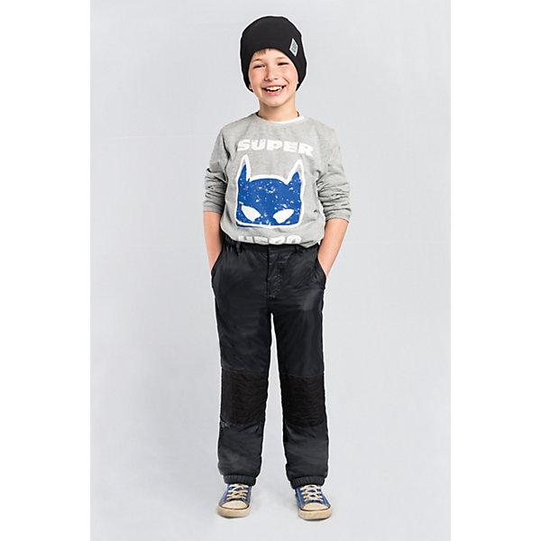 Брюки BOOM by Orby для мальчикаВерхняя одежда<br>Характеристики товара:<br><br>• цвет: черный;<br>• ткань верха: таффета стеганая (100% ПЭ);<br>• отделка: таслан pu milky (100% ПЭ);<br>• подкладка: флис; ПЭ пуходержащий (70% вискоза, 30% ПЭ);<br>• сезон: демисезон;<br>• температурный режим: от -5 до +10°С;<br>• стежка в зоне коленей;<br>• два кармана;<br>• на молнии и на пуговице;<br>• усиленная резинка по низу брючины;<br>• страна бренда: Россия.<br><br>Брюки BOOM by Orby для мальчика - незаменимая вещь на межсезонье. Зона коленей усилена в виде стежки износостойкой тканью таслан для защиты от истирания. для защиты от ветра и попадания грязи - дополнены резинкой по низу брючин. Теплые брюки - идеальный вариант для прогулок, сочетаемый с большим количеством верхней одежды и обувью.<br><br>Брюки BOOM by Orby (Бум бай Орби) для мальчика можно купить в нашем интернет-магазине.<br>Ширина мм: 215; Глубина мм: 88; Высота мм: 191; Вес г: 336; Цвет: черный; Возраст от месяцев: 12; Возраст до месяцев: 18; Пол: Мужской; Возраст: Детский; Размер: 86,158,152,146,140,134,128,122,116,110,104,98,92; SKU: 7709306;
