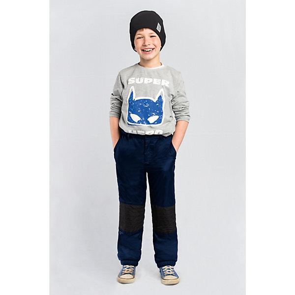 Брюки BOOM by Orby для мальчикаВерхняя одежда<br>Характеристики товара:<br><br>• цвет: темно-синий;<br>• ткань верха: таффета стеганая (100% ПЭ);<br>• отделка: таслан pu milky (100% ПЭ);<br>• подкладка: флис; ПЭ пуходержащий (70% вискоза, 30% ПЭ);<br>• сезон: демисезон;<br>• температурный режим: от -5 до +10°С;<br>• стежка в зоне коленей;<br>• два кармана;<br>• на молнии и на пуговице;<br>• усиленная резинка по низу брючины;<br>• страна бренда: Россия.<br><br>Брюки BOOM by Orby для мальчика - незаменимая вещь на межсезонье. Зона коленей усилена в виде стежки износостойкой тканью таслан для защиты от истирания. для защиты от ветра и попадания грязи - дополнены резинкой по низу брючин. Теплые брюки - идеальный вариант для прогулок, сочетаемый с большим количеством верхней одежды и обувью.<br><br>Брюки BOOM by Orby (Бум бай Орби) для мальчика можно купить в нашем интернет-магазине.<br>Ширина мм: 215; Глубина мм: 88; Высота мм: 191; Вес г: 336; Цвет: темно-синий; Возраст от месяцев: 12; Возраст до месяцев: 18; Пол: Мужской; Возраст: Детский; Размер: 86,158,152,146,140,134,128,122,116,110,104,98,92; SKU: 7709334;