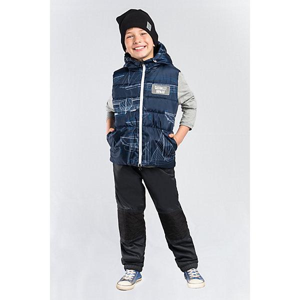 Жилет BOOM by Orby для мальчикаВерхняя одежда<br>Характеристики товара:<br><br>• цвет: т.синий принт  корабли / т.синий/ белый;<br>• ткань верха с одной стороны: таффета принт pu (100 % ПЭ);<br>• ткань верха сдругой стороны: болонь pu (100 % ПЭ);<br>• утеплитель: Flexy Fiber 150 г/м2;<br>• сезон: демисезон;<br>• температурный режим: от -5 до +10°С;<br>• нашивка на груди;<br>• два кармана;<br>• контрастная молния; <br>• особенности: двусторонняя заниженнная модель, принт;<br>• тип: стеганый;<br>• капюшон: несъемный, утяжка на шнурке;<br>• страна бренда: Россия.<br><br>Жилет BOOM by Orby для девочки выполнена из практичной и износостойкой ткани, в актуалных цветах сезона. Лёгкий и яркий двусторонний жилет. Одна сторона - таффета принт, другая - однотонная непромокаемая болонь. Две вещи по цене одной! Гипоаллергенный утеплитель и заниженная модель защитит в прохладную погоду. Идеально сочетается с вещами в стиле casual: джинсы или брюки чинос, полуботинки и шапки-бини. Подойдет для активных игр и прогулок, а также для повседненой носки. <br><br>Жилет BOOM by Orby (Бум бай Орби) для девочки можно купить в нашем интернет-магазине.<br>Ширина мм: 356; Глубина мм: 10; Высота мм: 245; Вес г: 519; Цвет: темно-синий; Возраст от месяцев: 108; Возраст до месяцев: 120; Пол: Мужской; Возраст: Детский; Размер: 98,92,110,158,152,146,140,134,128,122,116,104; SKU: 7709361;