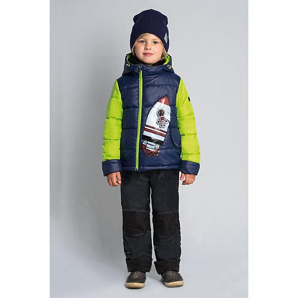 Комплект BOOM by Orby для мальчикаВерхняя одежда<br>Характеристики товара:<br><br>• цвет: т.синий/салатовый/ черный;<br>• ткань верха (куртка): болонь pu;<br>• ткань верха (брюки):  таффета pu milky (100% ПЭ);<br>• отделка (брюки):  таслан (100% ПЭ);<br>• подкладка (куртка): поликоттон; ПЭ пуходержащий (90% хлопок, 10% ПЭ);<br>• подкладка (брюки): ПЭ пуходержащий (100% ПЭ);<br>• утеплитель: Flexy Fiber 150 г/м2;<br>• сезон: демисезон;<br>• температурный режим: от -5 до +10°С;<br>• высокая горловина;<br>• большая нашивка  ракета  спереди на куртке;<br>• светоотражающие элементы;<br>• эластичные манжеты;<br>• два кармана;<br>• манжеты-отвороты;<br>• усиленная защита коленей от истирания;<br>• тип куртки: стеганая;<br>• капюшон: съемный, утяжка на шнурке;<br>• страна бренда: Россия.<br><br>Комплект: куртка и брюки  BOOM by Orby для мальчика выполнен из практичной, качественной и износостойкой ткани, болонь и таффета с водоотталкивающими пропитками. Идеален на  межсезонье, в актуальных цветах с космической тематикой в дизайне. Манженты-отвороты на курточке и брючках помогут комплекту прослужить не один сезон.  Гипоаллергенный утеплитель куртки защитит в прохладную погоду.  Зона коленей усилена износостойкой тканью таслан для защиты от истирания. Комплект подойдет и для прогулок и для школы/сада. <br><br>Комплект: куртку и брюки  BOOM by Orby для девочки можно купить в нашем интернет-магазине.<br>Ширина мм: 356; Глубина мм: 10; Высота мм: 245; Вес г: 519; Цвет: темно-синий; Возраст от месяцев: 6; Возраст до месяцев: 9; Пол: Мужской; Возраст: Детский; Размер: 74,110,104,98,92,86,80; SKU: 7709382;