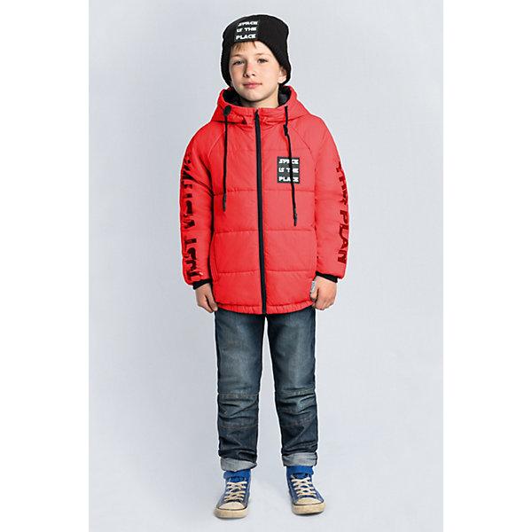 Куртка BOOM by Orby для мальчикаВерхняя одежда<br>Характеристики товара:<br><br>• цвет: красный;<br>• ткань верха: таффета rip-stop pu (100% ПЭ);<br>• подкладка: поликоттон; ПЭ пуходержащий (90% хлопок, 10% ПЭ)<br>• утеплитель: Flexy Fiber 150 г/м2;<br>• сезон: демисезон;<br>• температурный режим: от -5 до +10°С;<br>• эластичные манжеты;<br>• два кармана;<br>• дополнительная утяжка по низу изделия; <br>• особенности: на молнии, принт, нашивка на груди;<br>• тип куртки: стеганая;<br>• капюшон: с утяжкой на шнурке, несъемный;<br>• страна бренда: Россия.<br><br>Куртка BOOM by Orby для мальчика выполнена из практичной и износостойкой ткани, с оригинальными дизайнерскими элементами, в актуалных цвета сезона. Гипоаллергенный утеплитель защитит в прохладную погоду. Модель обязательно станет любимицей детей и родителей, ведь в неё сочетаются стиль, доступность и практичность. Идеально сочетается с вещами в стиле casual и спорт: джинсы или брюки чинос, полуботинки и шапки-бини. <br><br>Куртку BOOM by Orby (Бум бай Орби) для мальчика можно купить в нашем интернет-магазине.<br>Ширина мм: 356; Глубина мм: 10; Высота мм: 245; Вес г: 519; Цвет: красный; Возраст от месяцев: 144; Возраст до месяцев: 156; Пол: Мужской; Возраст: Детский; Размер: 158,164,152,146,140,134,128,122,116,170; SKU: 7709412;