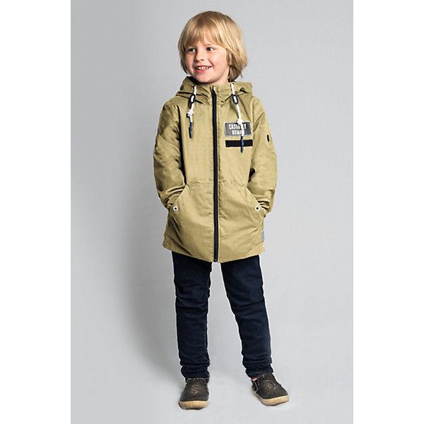 Куртка BOOM by Orby для мальчикаВерхняя одежда<br>Характеристики товара:<br><br>• цвет: песочный;<br>• ткань верха: хлопок 100%;<br>• подкладка: флис; ПЭ пуходержащий (100% ПЭ);<br>• сезон: демисезон;<br>• температурный режим: от +10°С;<br>• высокая горловина;<br>• два боковых кармана;<br>• особенности: на молнии, нашивка на груди, принт на спине;<br>• тип куртки: ветровка;<br>• капюшон: с утяжкой на шнурке, несъемный;<br>• страна бренда: Россия.<br><br>Куртка BOOM by Orby для мальчика -  универсальный вариант для межсезонья. Стильная куртка для мальчика на флисовой подкладке, из натурального хлопка. Идеальна для прогулок в межсезонье или прохладными летними вечерами. Модель создана специально так, чтобы подходить к любому стилю: деловому, спортивному, casual. Модный дизайн и комфорт непримерно понравятся вашему ребенку. <br><br>Куртку BOOM by Orby для мальчика можно купить в нашем интернет-магазине.<br>Ширина мм: 356; Глубина мм: 10; Высота мм: 245; Вес г: 519; Цвет: бежевый; Возраст от месяцев: 12; Возраст до месяцев: 18; Пол: Мужской; Возраст: Детский; Размер: 86,158,152,146,140,134,128,122,116,110,104,98,92; SKU: 7709501;