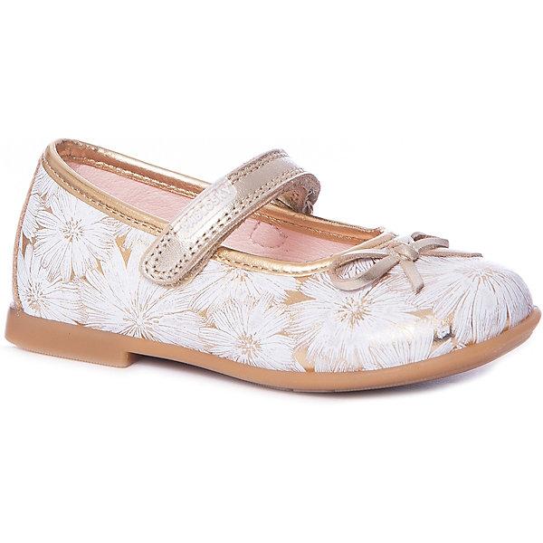Туфли Pablosky для девочкиНарядная обувь<br>Характеристики товара:<br><br>• цвет: золото;<br>• внешний материал: натуральная кожа;<br>• внутренний материал: натуральная кожа;<br>• стелька: натуральная кожа;<br>• подошва: полиуретан;<br>• сезон: круглый год;<br>• анатомическое строение стельки;<br>• застежка: на липучке;<br>• устойчивая подошва;<br>• страна бренда: Испания.<br><br>Туфли для девочки на липучки с принтованной кожей отлично смотрятся с платьем или юбкой. Модель подойдет как для праздничных нарядов, так и прогулок в будние дни.<br><br>Удобная стильная обувь поможет детям чувствовать себя удобно и дольше не уставать! Эти туфли позволяют создать ногам ребенка комфортные условия: они отлично сидят на ноге и не мешают коже дышать. Отличный вариант качественной обуви для теплого времени года!<br><br>Туфли для девочки от популярного бренда Pablosky (Паблоски) можно купить в нашем интернет-магазине.<br>Ширина мм: 227; Глубина мм: 145; Высота мм: 124; Вес г: 325; Цвет: желтый; Возраст от месяцев: 12; Возраст до месяцев: 15; Пол: Женский; Возраст: Детский; Размер: 21,27,22,23,24,25,26; SKU: 7712878;