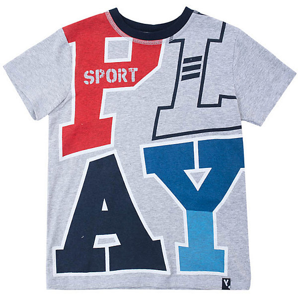 Купить Футболка PlayToday для мальчика, Китай, серый, 116, 110, 128, 104, 146/152, 134/140, 122, Мужской