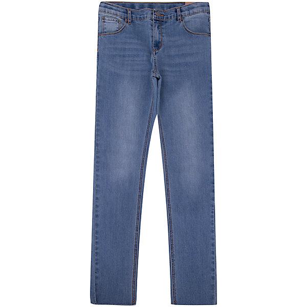 Джинсы PlayToday для мальчикаДжинсы<br>Брюки PlayToday для мальчика<br>Классические джинсы выполнены из натурального материала. 5-ти карманная модель. Пояс со шлевками, при необходимости можно использовать ремень. Изнутри по ширине пояс регулируется за счет резинок на пуговицах. Низ штанин выполнен в технике необработанного края.<br>Состав:<br>70% хлопок, 20% полиэстер, 8% вискоза, 2% эластан<br>Ширина мм: 215; Глубина мм: 88; Высота мм: 191; Вес г: 336; Цвет: синий; Возраст от месяцев: 132; Возраст до месяцев: 144; Пол: Мужской; Возраст: Детский; Размер: 146/152,104,134/140,122,116,110,128; SKU: 7714701;