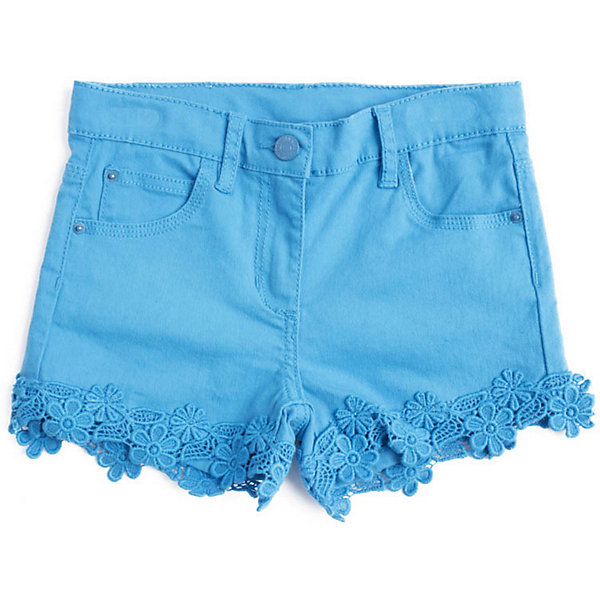 Шорты PlayToday для девочкиШорты, бриджи, капри<br>Характеристики товара:<br><br>• цвет: голубой;<br>• состав ткани: 97% хлопок, 3% эластан;<br>• сезон: лето;<br>• застёжка: ширинка на молнии и пуговица;<br>• внутренняя регулировка талии;<br>• наличие шлёвок для ремня;<br>• классическая 5-ти карманная модель;<br>• декорированы кружевными цветами;<br>• коллекция: Пионы;<br>• страна бренда: Германия.<br><br>Шорты выполнены из натурального материала. Пояс на шлевках, при необходимости можно использовать ремень, по ширине изнутри регулируется за счет резинки на пуговицах. 5-ти карманная модель. В качестве декора использованы аппликации из шитья.<br><br>Шорты PlayToday (ПлэйТудэй) можно купить в нашем интернет-магазине.<br>Ширина мм: 191; Глубина мм: 10; Высота мм: 175; Вес г: 273; Цвет: голубой; Возраст от месяцев: 36; Возраст до месяцев: 48; Пол: Женский; Возраст: Детский; Размер: 104,146/152,134/140,122,110,116,128; SKU: 7714976;