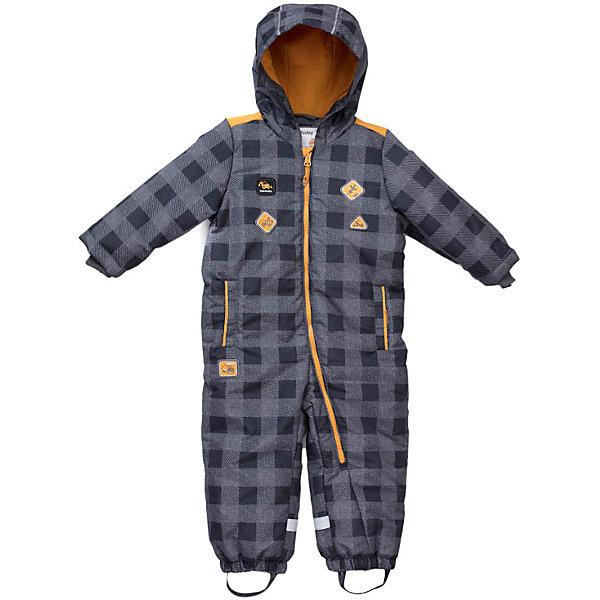 Комбинезон PlayToday для мальчикаВерхняя одежда<br>Характеристики товара:<br><br>• цвет: серый в клетку;<br>• состав ткани: 100% полиэстер;<br>• подкладка: 60% хлопок, 40% полиэстер;<br>• утеплитель: 100% полиэстер, 180 г/м2;<br>• сезон: демисезон;<br>• температурный режим: от -7 до +5С;<br>• застёжка: молния с защитой подбородка;<br>• водоотталкивающая ткань;<br>• капюшон не отстёгивается;<br>• капюшон со с шнурком-кулиской;<br>• трикотажная подкладка;<br>• манжеты рукавов на мягкой трикотажной резинке;<br>• низ штанин на резинках, имеются штрипки;<br>• карманы на липучках;<br>• светоотражающие детали;<br>• коллекция; Маленькие строители;<br>• страна бренда: Германия.<br><br>Утепленный комбинезон из водоотталкивающей ткани. Встрочной капюшон по контуру лицевой части дополнен регулируемым шнуром - кулиской. Подкладка из трикотажа с высоким содержанием натурального хлопка. Манжеты рукавов на мягких трикотажных резинках для дополнительного сохранения тепла. <br><br>Модель на молнии. Специальный карман для фиксации бегунка не позволит застежке - молнии травмировать нежную детскую кожу. Низ штанин на резинках, дополнен штрипками. В качестве декора использованы аппликации. Встрочные карманы на липучках. Светоотражатели обеспечат безопасность ребенка в темное время суток.<br><br>Комбинезон PlayToday (ПлэйТудэй) можно купить в нашем интернет-магазине.<br>Ширина мм: 356; Глубина мм: 10; Высота мм: 245; Вес г: 519; Цвет: серый; Возраст от месяцев: 12; Возраст до месяцев: 15; Пол: Мужской; Возраст: Детский; Размер: 80,98,74,92,86; SKU: 7717068;