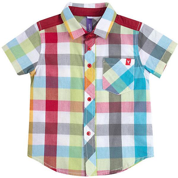 Рубашка PlayToday для мальчикаТолстовки, свитера, кардиганы<br>Сорочка PlayToday для мальчика<br>Сорочка с коротким рукавом классического кроя, выполнена из натурального материала. Модель дополнена накладным карманом и декорирована небольшой аппликацией.<br>Состав:<br>100% хлопок<br>Ширина мм: 174; Глубина мм: 10; Высота мм: 169; Вес г: 157; Цвет: желтый; Возраст от месяцев: 12; Возраст до месяцев: 18; Пол: Мужской; Возраст: Детский; Размер: 86,74,80,98,92; SKU: 7717380;