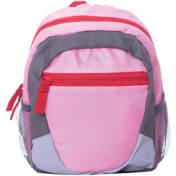 Рюкзак PlayToday для девочкиАксессуары<br>Характеристики товара:<br><br>• цвет: розовый/серый;<br>• состав ткани: 100% полиэстер;<br>• застёжка: молния;<br>• водонепроницаемая ткань;<br>• мягкая спинка;<br>• широкие регулируемые лямки;<br>• внутренние и внешние карманы;<br>• петелька для подвешивания;<br>• коллекция: Солнечная палитра;<br>• страна бренда: Германия.<br><br>Рюкзак выполнен из водонепроницаемой ткани. Модель на широких регулируемых бретелях, дополнена внутренними и внешними карманами.<br><br>Рюкзак PlayToday (ПлэйТудэй) можно купить в нашем интернет-магазине.<br>Ширина мм: 227; Глубина мм: 11; Высота мм: 226; Вес г: 350; Цвет: розовый; Возраст от месяцев: 60; Возраст до месяцев: 144; Пол: Женский; Возраст: Детский; Размер: one size; SKU: 7717468;