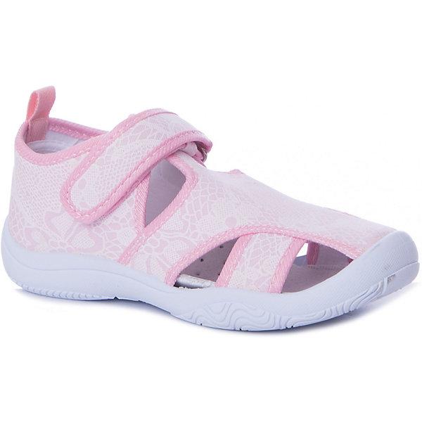 Сандалии Mursu для девочкиТекстильные туфли<br>Характеристики товара:<br><br>• цвет: розовый/принт;<br>• материал верха: текстиль;<br>• подклад: текстиль;<br>• стелька: натуральная кожа;<br>• подошва: ПВХ;<br>• сезон: лето;<br>• особенности модели: спортивный стиль;<br>• застежка: липучка;<br>• защита мыса;<br>• анатомические;<br>• страна бренда: Финляндия.<br><br>Текстильную обувь Mursu можно использовать как сменную в детском саду, так и для прогулок в сухую погоду. Удобная форма позволяет быстро надеть и снять обувь. А яркая расцветка и веселый принт неприменно порадуют вашу малышку.<br><br>Обувь Мурсу - это качественная финская продукция, которая помогает детям выглядеть модно и чувствовать себя удобно.<br><br>Текстильную обувь для девочки Mursu можно купить в нашем интернет-магазине.<br>Ширина мм: 219; Глубина мм: 154; Высота мм: 121; Вес г: 343; Цвет: розовый; Возраст от месяцев: 96; Возраст до месяцев: 108; Пол: Женский; Возраст: Детский; Размер: 32,31,30,29,28,27; SKU: 7721997;
