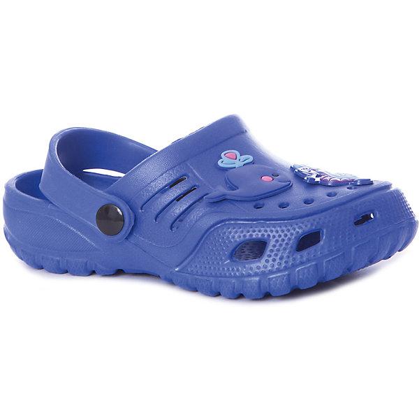 Сабо Mursu для мальчикаПляжная обувь<br>Характеристики товара:<br><br>• цвет: синий;<br>• внешний материал: ЭВА;<br>• внутренний материал: ЭВА;<br>• стелька: ЭВА;<br>• подошва: ЭВА;<br>• сезон: лето;<br>• облегчённая модель;<br>• подходит для пляжа;<br>• подходит для занятий в бассейне;<br>• отверстия для вентиляции;<br>• закрытый нос;<br>• устойчивая подошва;<br>• страна бренда: Финляндия.<br><br>Удобные кроксы Mursu незаменимы для пляжного сезона. Легкая модель полностью выполнена из качественного полимерного материала. У кроксов имеется подвижный ремешок с пластиковыми кнопками. Большое количество дырочек в верхней части обуви обеспечивает вентиляцию ноги. Носочная часть оформлена оригинальным декоративным элементом в виде рыбки, который неприменно оценит ваш ребенок. <br><br>Пляжная обувь финского бренда Mursu - это отличный вариант правильной и красивой детской обуви!<br><br>Пляжную обувь Mursu для мальчика можно купить в нашем интернет-магазине.<br>Ширина мм: 225; Глубина мм: 139; Высота мм: 112; Вес г: 290; Цвет: голубой; Возраст от месяцев: 21; Возраст до месяцев: 24; Пол: Мужской; Возраст: Детский; Размер: 24,29,28,27,26,25; SKU: 7722726;