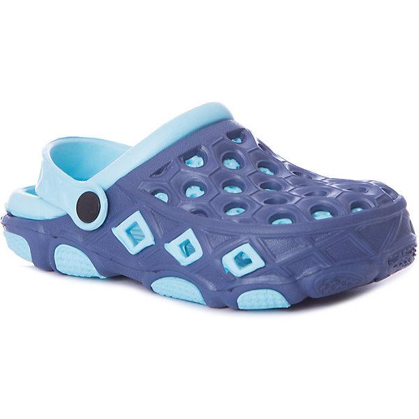 Сабо Mursu для мальчикаПляжная обувь<br>Характеристики товара:<br><br>• цвет: синий/голубой;<br>• внешний материал: ЭВА;<br>• внутренний материал: ЭВА;<br>• стелька: ЭВА;<br>• подошва: ЭВА;<br>• сезон: лето;<br>• облегчённая модель;<br>• подходит для пляжа;<br>• подходит для занятий в бассейне;<br>• отверстия для вентиляции;<br>• закрытый нос;<br>• устойчивая подошва;<br>• страна бренда: Финляндия.<br><br>Удобные кроксы Mursu незаменимы для пляжного сезона. Легкая модель полностью выполнена из качественного полимерного материала. У кроксов имеется подвижный ремешок с пластиковыми кнопками. Большое количество дырочек в верхней части обуви обеспечивает вентиляцию ноги. Модель выполнена в яркой комбинации цветов синего и голубого.<br><br>Пляжная обувь финского бренда Mursu - это отличный вариант правильной и красивой детской обуви!<br><br>Пляжную обувь Mursu для мальчика можно купить в нашем интернет-магазине.<br>Ширина мм: 225; Глубина мм: 139; Высота мм: 112; Вес г: 290; Цвет: синий; Возраст от месяцев: 21; Возраст до месяцев: 24; Пол: Мужской; Возраст: Детский; Размер: 24,29,28,27,26,25; SKU: 7722754;