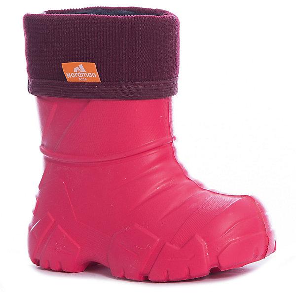 Резиновые сапоги Nordman для девочкиРезиновые сапоги<br>Характеристики товара:<br><br>• цвет: красный<br>• материал верха: ЭВА<br>• подклад: флис<br>• стелька: флис<br>• подошва: ЭВА<br>• сезон: зима, демисезон<br>• температурный режим: от 0 до -15<br>• обхват голенища: 23 см<br>• сапожок не вынимается<br>• непромокаемые<br>• подошва не скользит<br>• страна бренда: Россия<br>• страна изготовитель: Россия<br><br>Резиновые сапоги для девочки Nordman позволяют сохранить ноги в тепле и одновременно не дают им промокнуть. Такая обувь отлично подходит для теплой зимы или слякоти в межсезонье. <br><br>Высокое голенище предотвращает попадание влаги или грязи в сапог. Флисовая мягкая подкладка обеспечивает ногам комфортные условия.<br><br>Резиновые сапоги для девочки Nordman (Нордман) можно купить в нашем интернет-магазине.<br>Ширина мм: 237; Глубина мм: 180; Высота мм: 152; Вес г: 438; Цвет: красный; Возраст от месяцев: 24; Возраст до месяцев: 36; Пол: Женский; Возраст: Детский; Размер: 26/27,28/29,30/31,32/33,34/35,22/23,24/25; SKU: 7725773;