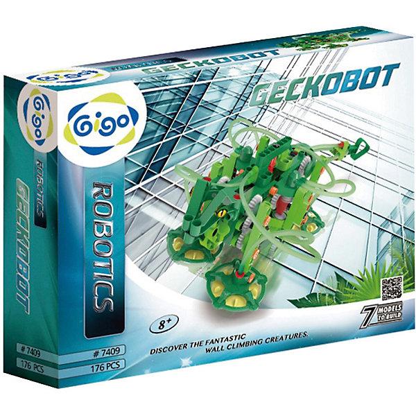 Конструктор GIGO ГигоботРобототехника и электроника<br>Характеристики:<br><br>• возраст: от 7 лет;<br>• материал: пластик;<br>• количество деталей: 176;<br>• размер упаковки: 37х29х8 см;<br>• вес упаковки: 1,5 кг.;<br>• страна бренда: Тайвань.<br><br>Конструктор GIGO Гигобот  предназначен для любознательного ребенка, который интересуется физикой и различными изобретениями.<br><br>Занимаясь с этим набором, ребенок узнаёт о первых законах физики и современных технологиях. Собирая роботов, он получает важные навыки конструирования. Работа с деталями положительно влияет на моторику и координацию движений его рук. Создание точных моделей согласно инструкции развивает логическое мышление.<br><br>Возможность строительства оригинальных конструкций позволяет развить креативность и нестандартный взгляд на вещи. Играя с деталями, ребенок знакомится с профессией инженера. Пусть маленький мастер поймет, что наука может быть веселой и увлекательной!<br><br>Конструктор GIGO Гигобот можно купить в нашем интернет-магазине.<br>Ширина мм: 370; Глубина мм: 80; Высота мм: 290; Вес г: 1140; Возраст от месяцев: 60; Возраст до месяцев: 180; Пол: Унисекс; Возраст: Детский; SKU: 7731250;