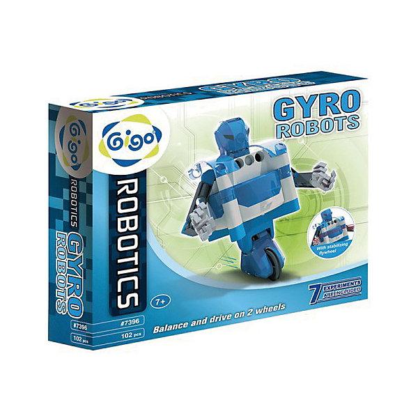 Конструктор GIGO Гиро-роботы, 102 деталиРобототехника и электроника<br>Характеристики товара:<br><br>• возраст: от 7 лет;<br>• материал: пластик;<br>• питание: 3 батарейки типа ААА (в комплект не входят);<br>• количество деталей: 102;<br>• размер упаковки: 37х8х29 см;<br>• вес упаковки: 1,5 кг.;<br>• страна бренда: Тайвань.<br><br>Конструктор GIGO Гиро-роботы предназначен для любознательного ребенка, который интересуется физикой и различными изобретениями.<br><br>Занимаясь с этим набором, ребенок узнаёт о первых законах физики и современных технологиях. Собирая роботов, он получает важные навыки конструирования. Работа с деталями положительно влияет на моторику и координацию движений его рук. Создание точных моделей согласно инструкции развивает логическое мышление.<br><br>Возможность строительства оригинальных конструкций позволяет развить креативность и нестандартный взгляд на вещи. Играя с деталями, ребенок знакомится с профессией инженера. Пусть маленький мастер поймет, что наука может быть веселой и увлекательной!<br><br>В комплект входят: 1 гиромотор; 1 гироколесо; 3 головы для разных моделей; 10 рук для роботов; 1 элемент в форме плаща робота;1 каркас робота; 23 разные рейки; 5 разных рам; 10 преобразователей; 4 соединителя осей; 8 узлов поворота; 2 полые трубки; 30 вставных штифтов и специальный инструмент для их извлечения; хлопковую веревку; набор наклеек; инструкция на русском языке.<br><br>Конструктор GIGO Гиро-роботы  можно купить в нашем интернет-магазине.<br>Ширина мм: 370; Глубина мм: 80; Высота мм: 290; Вес г: 1140; Возраст от месяцев: 60; Возраст до месяцев: 180; Пол: Унисекс; Возраст: Детский; SKU: 7731254;