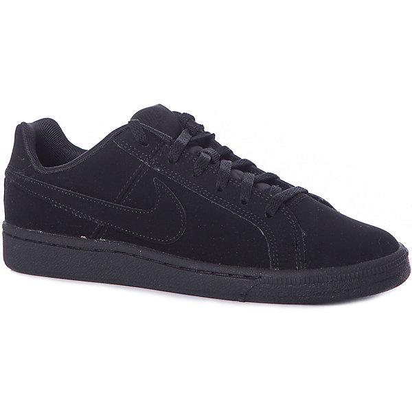 Кеды NIKEКеды<br>Характеристики товара:<br><br>• цвет: черный<br>• модель: Nike Court Royale (GS)<br>• спортивный стиль<br>• внешний материал обуви: натуральная кожа;<br>• внутренний материал: текстиль<br>• стелька: EVA<br>• подошва: резина<br>• декорированы логотипом<br>• вставка в подошве для мягкой амортизации<br>• тип застежки: шнуровка<br>• сезон: демисезон<br>• температурный режим: от +10°С до +20°С<br>• устойчивая подошва<br>• износостойкий материал<br>• страна бренда: США<br><br>Кеды для мальчика Nike Court Royale (GS) - новое исполнение теннисной классики в современном стиле. Выполнены из первоклассной мягкой кожи  обеспечивая максимальный комфорт ребенку.  Стелька из пеноматериала EVA обеспечивает амортизацию без утяжеления. Резиновая подошва типа cupsole обеспечивает гибкость и поддержку. <br><br>Обувь качественно проработана, она долго служит, удобно сидит, отлично защищает детскую ногу от повреждений. Надевается элементарно, благодаря эластичной шнуровке и удобному язычку. Стильно выглядит и хорошо смотрится с одеждой разных цветов и стилей.<br><br>Кеды NIKE (Найк) можно купить в нашем интернет-магазине.<br>Ширина мм: 250; Глубина мм: 150; Высота мм: 150; Вес г: 250; Цвет: разноцветный; Возраст от месяцев: 168; Возраст до месяцев: 1188; Пол: Унисекс; Возраст: Детский; Размер: 39,34.5,38,37.5,37,36.5,35.5,35; SKU: 7741796;