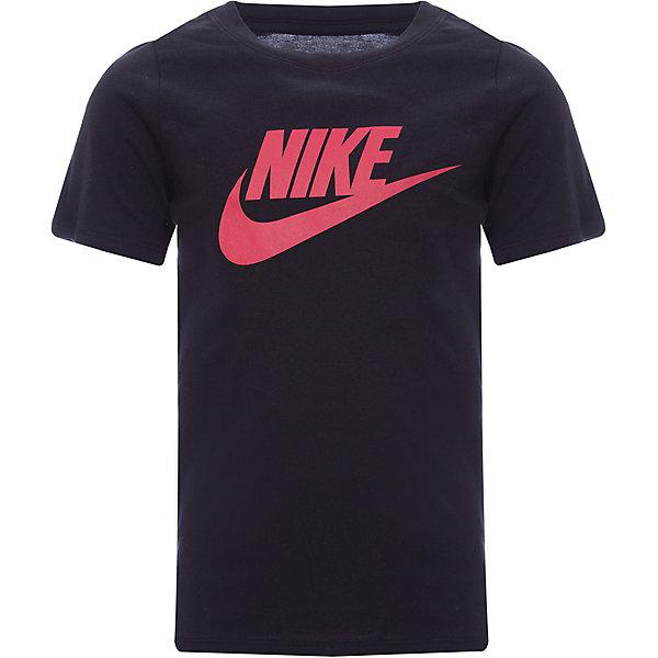 Футболка NIKEФутболки, поло и топы<br>Характеристики товара:<br><br>• цвет: черный;<br>• модель: Nike Futura Icon;<br>• материал: хлопок 100%;<br>• сезон: лето;<br>• спортивный стиль;<br>• вырез горловины: округлый;<br>• покрой: приталенный;<br>• рисунок: логотип;<br>• уход за вещами: бережная стирка при 30 градусах;<br>• страна бренда: США.<br><br>Футболка для мальчиков Nike Futura Icon из прочного 100% хлопка обеспечивает комфорт на каждый день. Выполнена в практичном черном цвете с большим печатным логотипом на груди, идеально подходит для игры на площадке, для различных видов тренировок или для повседневной носки. Мягкий хлопковый материал не вызывает раздражения, а приталенный силуэт и округлый вырез не ограничивают движение во время активности. Кант у затылка снижает натирание.<br><br>Продукция бренда NIKE известна высоким качеством и уникальным узнаваемым дизайном. <br><br>Футболка для мальчиков Nike Futura Icon можно купить в нашем интернет-магазине.<br>Ширина мм: 199; Глубина мм: 10; Высота мм: 161; Вес г: 151; Цвет: разноцветный; Возраст от месяцев: 144; Возраст до месяцев: 156; Пол: Унисекс; Возраст: Детский; Размер: 147/158,158/170,122/128,128/137,137/147; SKU: 7741899;
