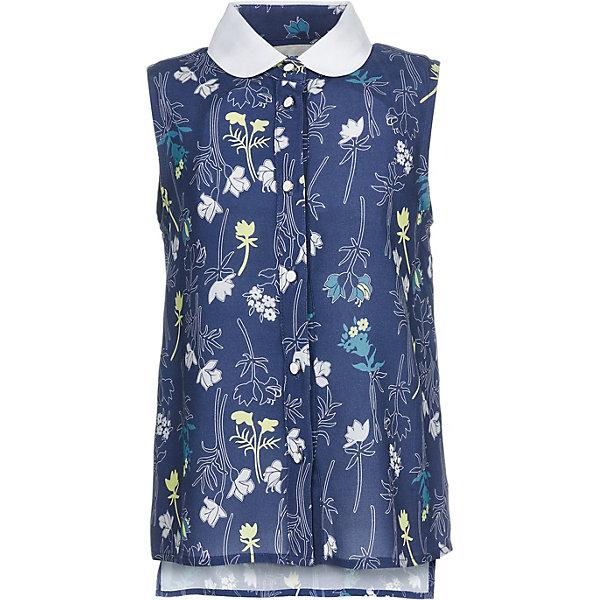 Купить Блузка Button Blue для девочки, Китай, темно-синий, 98, 158, 152, 146, 140, 134, 128, 122, 116, 110, 104, Женский