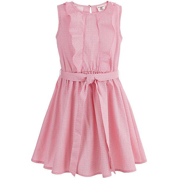 Платье Button Blue для девочкиПлатья и сарафаны<br>Характеристики товара:<br><br>• цвет: розовый<br>• состав ткани: 100% хлопок<br>• сезон: лето<br>• застежка: пуговица<br>• без рукавов<br>• страна бренда: Россия<br><br>Розовое приталенное платье для ребенка от популярного бренда Button Blue выполнено в приятной расцветке. Материал этого детского платья - легкий натуральный хлопок, который создает комфортные условия для тела. Такое платье для детей смотрится модно и аккуратно.<br><br>Платье Button Blue (Баттон Блю) для девочки можно купить в нашем интернет-магазине.<br>Ширина мм: 236; Глубина мм: 16; Высота мм: 184; Вес г: 177; Цвет: розовый; Возраст от месяцев: 24; Возраст до месяцев: 36; Пол: Женский; Возраст: Детский; Размер: 98,158,104,110,116,122,128,134,140,146,152; SKU: 7745203;