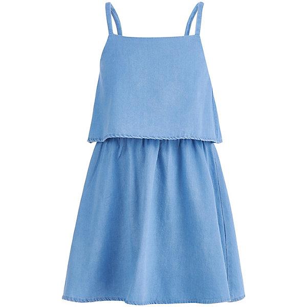 Сарафан Button Blue для девочкиПлатья и сарафаны<br>Характеристики товара:<br><br>• цвет: голубой<br>• состав ткани: 100% хлопок<br>• сезон: лето<br>• без рукавов<br>• страна бренда: Россия<br><br>Удобный сарафан для детей выполнен из легкой натуральной ткани. Хлопковый сарафан для ребенка от известного бренда Button Blue отличается оригинальным силуэтом. Этот сарафан, как и другие модели одежды для ребенка от Button Blue - качественная стильная вещь по доступной цене. <br><br>Сарафан Button Blue (Баттон Блю) для девочки можно купить в нашем интернет-магазине.<br>Ширина мм: 236; Глубина мм: 16; Высота мм: 184; Вес г: 177; Цвет: белый; Возраст от месяцев: 24; Возраст до месяцев: 36; Пол: Женский; Возраст: Детский; Размер: 98,158,152,146,140,134,128,122,116,110,104; SKU: 7745251;