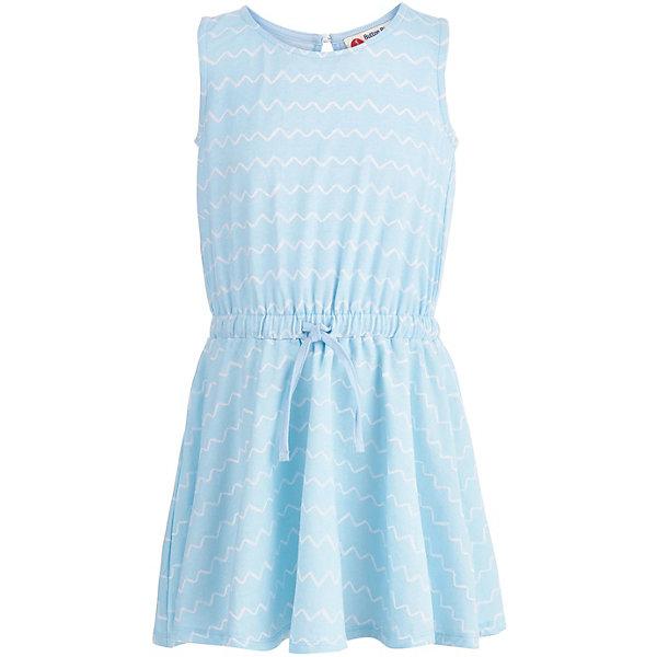 Платье Button Blue для девочкиПлатья и сарафаны<br>Характеристики товара:<br><br>• цвет: голубой<br>• состав ткани: 95% хлопок, 5% эластан<br>• сезон: лето<br>• застежка: пуговица<br>• без рукавов<br>• страна бренда: Россия<br><br>Голубое летнее платье для детей выполнено из легкой натуральной ткани. Хлопковое платье для ребенка от известного бренда Button Blue отличается классическим силуэтом. Это детское платье, как и другие модели одежды для ребенка от Button Blue - качественная стильная вещь по доступной цене. <br><br>Платье Button Blue (Баттон Блю) для девочки можно купить в нашем интернет-магазине.<br>Ширина мм: 236; Глубина мм: 16; Высота мм: 184; Вес г: 177; Цвет: голубой; Возраст от месяцев: 24; Возраст до месяцев: 36; Пол: Женский; Возраст: Детский; Размер: 98,158,152,146,140,134,128,122,116,110,104; SKU: 7745287;