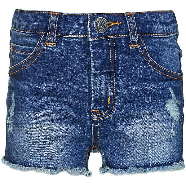 Шорты джинсовые Button Blue для девочкиШорты, бриджи, капри<br>Характеристики товара:<br><br>• цвет: синий<br>• состав ткани: 75% хлопок, 23% полиэстер, 2% эластан<br>• сезон: лето<br>• застежка: пуговица<br>• шлевки<br>• страна бренда: Россия<br><br>Джинсовые шорты сделаны из плотной дышащей ткани, которая отлично подходит для теплой погоды. Летние шорты для ребенка от популярного бренда Button Blue выполнены в универсальном цвете. Эти шорты для детей отличаются популярным в наступающем сезоне силуэтом.<br><br>Шорты Button Blue (Баттон Блю) для девочки можно купить в нашем интернет-магазине.<br>Ширина мм: 191; Глубина мм: 10; Высота мм: 175; Вес г: 273; Цвет: темно-синий; Возраст от месяцев: 48; Возраст до месяцев: 60; Пол: Женский; Возраст: Детский; Размер: 104,110,98,158,152,146,140,134,128,122,116; SKU: 7745478;