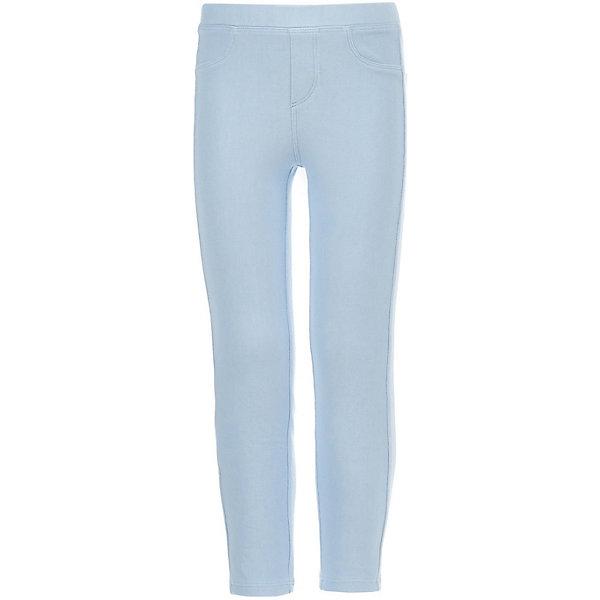 Купить Леггинсы Button Blue для девочки, Вьетнам, голубой, 98, 104, Женский