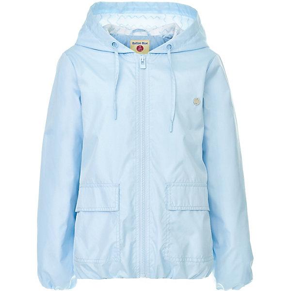 Куртка Button Blue для девочкиВерхняя одежда<br>Характеристики товара:<br><br>• цвет: голубой<br>• состав ткани: 100% полиэстер<br>• подкладка: 100% хлопок<br>• утеплитель: нет<br>• сезон: демисезон<br>• особенности модели: с капюшоном<br>• застежка: молния<br>• длинные рукава<br>• страна бренда: Россия<br><br>Голубая ветровка для ребенка от популярного бренда Button Blue выполнена в приятном цвете. Куртка для детей удобно застегивается на молнию. Такая детская куртка сделана из легкого материала и качественной фурнитуры. <br><br>Куртку Button Blue (Баттон Блю) для девочки можно купить в нашем интернет-магазине.<br>Ширина мм: 356; Глубина мм: 10; Высота мм: 245; Вес г: 519; Цвет: голубой; Возраст от месяцев: 24; Возраст до месяцев: 36; Пол: Женский; Возраст: Детский; Размер: 98,158,152,146,140,134,128,122,116,110,104; SKU: 7745740;