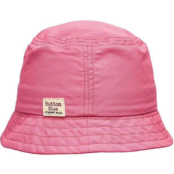 Панама Button Blue для девочкиГоловные уборы<br>Характеристики товара:<br><br>• цвет: розовый<br>• состав ткани: 55% хлопок, 45% полиэстер.<br>• подкладка: 100% хлопок<br>• сезон: лето<br>• страна бренда: Россия<br><br>Розовая панама для детей выполнена из легкой ткани. Хлопковая панама для ребенка от известного бренда Button Blue поможет защитить голову от перегрева на солнце. Эта детская панама, как и другие модели одежды для ребенка от Button Blue - качественная стильная вещь по доступной цене. <br><br>Панаму Button Blue (Баттон Блю) для девочки можно купить в нашем интернет-магазине.<br>Ширина мм: 89; Глубина мм: 117; Высота мм: 44; Вес г: 155; Цвет: розовый; Возраст от месяцев: 24; Возраст до месяцев: 36; Пол: Женский; Возраст: Детский; Размер: 50,56,54,52; SKU: 7745883;
