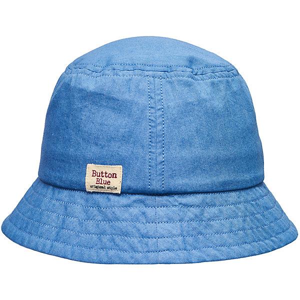 Панама Button Blue для девочкиГоловные уборы<br>Характеристики товара:<br><br>• цвет: голубой<br>• состав ткани: 100% хлопок<br>• подкладка: 100% хлопок<br>• сезон: лето<br>• страна бренда: Россия<br><br>Голубая панама для ребенка от популярного бренда Button Blue выполнена в универсальной расцветке. Материал этой детской панамы - преимущественно легкий натуральный хлопок, который создает комфортные условия для ношения вещи в жаркую погоду. Такая панама для детей смотрится модно и аккуратно.<br><br>Панаму Button Blue (Баттон Блю) для девочки можно купить в нашем интернет-магазине.<br>Ширина мм: 89; Глубина мм: 117; Высота мм: 44; Вес г: 155; Цвет: голубой; Возраст от месяцев: 24; Возраст до месяцев: 36; Пол: Женский; Возраст: Детский; Размер: 50,56,54,52; SKU: 7745893;