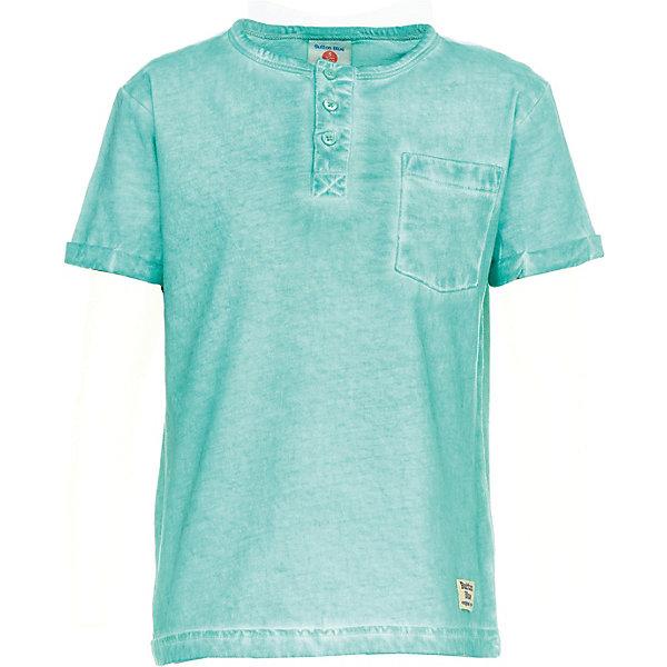 Футболка  Button Blue для мальчикаФутболки, поло и топы<br>Футболка короткий рукав Button Blue для мальчика<br>Однотонная футболка с коротким рукавом может стать основой самых разных образов. Если вы хотите удачно пополнить детский гардероб, можете купить дешево футболку для мальчика от Button Blue, сочетающую в своем дизайне стиль и практичность. Футболка выполнена из легкой трикотажной ткани, отличается удобной свободной формой.<br>Состав:<br>100% хлопок<br>Ширина мм: 199; Глубина мм: 10; Высота мм: 161; Вес г: 151; Цвет: бирюзовый; Возраст от месяцев: 132; Возраст до месяцев: 144; Пол: Мужской; Возраст: Детский; Размер: 152,146,140,134,128,122,116,110,104,98,158; SKU: 7746180;