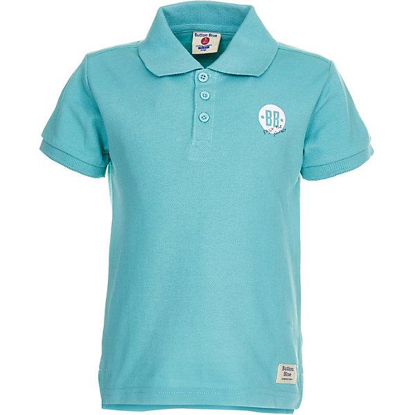 Футболка-поло Button Blue для мальчикаФутболки, поло и топы<br>Футболка-поло Button Blue для мальчика<br>Детское поло - отличная альтернатива футболке; недорогая и удобная одежда, которая помогает удачно расширить гардероб, позволяя не ходить каждый день в одном и том же. Купить поло для мальчика от Button Blue, значит обеспечить его стильной и модной моделью, которая добавит в его образ аристократичности. Поло прекрасно сочетается как с повседневной, так и со спортивной одеждой, а шрифтовая надпись на спине добавляет ему оригинальности.<br>Состав:<br>100% хлопок<br>Ширина мм: 199; Глубина мм: 10; Высота мм: 161; Вес г: 151; Цвет: бирюзовый; Возраст от месяцев: 24; Возраст до месяцев: 36; Пол: Мужской; Возраст: Детский; Размер: 158,152,146,140,134,128,98,116,110,104,122; SKU: 7746216;