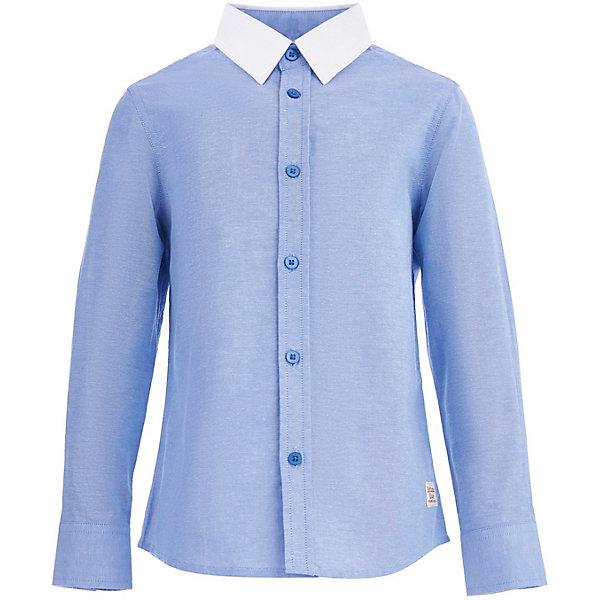 Сорочка Button Blue для мальчикаБлузки и рубашки<br>Характеристики товара:<br><br>• цвет: голубой<br>• состав ткани: 100% хлопок<br>• сезон: круглый год<br>• застежка: пуговицы<br>• длинные рукава<br>• страна бренда: Россия<br><br>Эта сорочка для детей дополнена контрастным отложным воротником. Хлопковая детская рубашка с длинным рукавом, как и другие модели одежды для ребенка от Button Blue - качественная стильная вещь по доступной цене. Модная сорочка для ребенка от известного бренда Button Blue отличается классическим силуэтом. <br><br>Сорочку Button Blue (Баттон Блю) для мальчика можно купить в нашем интернет-магазине.<br>Ширина мм: 174; Глубина мм: 10; Высота мм: 169; Вес г: 157; Цвет: синий; Возраст от месяцев: 24; Возраст до месяцев: 36; Пол: Мужской; Возраст: Детский; Размер: 98,158,152,146,140,134,128,122,116,110,104; SKU: 7746396;