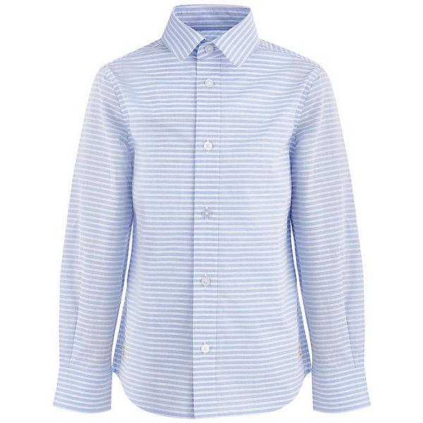 Купить Сорочка Button Blue для мальчика, Китай, белый, 98, 158, 152, 146, 140, 134, 128, 122, 116, 110, 104, Мужской