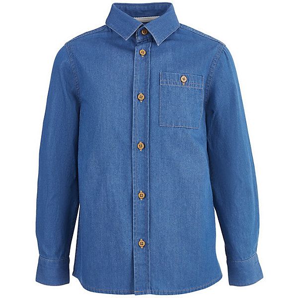 Купить Сорочка Button Blue для мальчика, Китай, синий, 146, 152, 140, 134, 122, 116, 110, 104, 98, 128, 158, Мужской