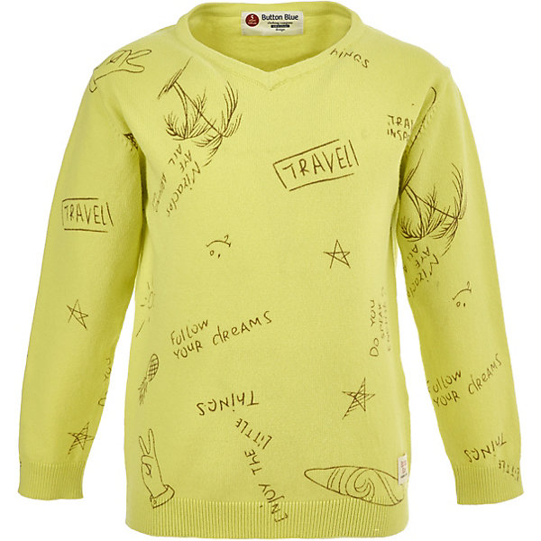 Пуловер Button Blue для мальчикаТолстовки<br>Пуловер Button Blue для мальчика<br>Удобный вязаный пуловер - вещь, которая может стать основой многих образов, поэтому она так практична. Купить детский пуловер мальчику, значит обеспечить его полезным предметом гардероба, который прекрасно сочетается с самой разной одеждой. Насыщенный цвет пуловера и интересные рисунки и надписи делают его особенно привлекательным и оригинальным.<br>Состав:<br>70%хлопок   30% нейлон<br>Ширина мм: 190; Глубина мм: 74; Высота мм: 229; Вес г: 236; Цвет: зеленый; Возраст от месяцев: 36; Возраст до месяцев: 48; Пол: Мужской; Возраст: Детский; Размер: 104,98,158,152,146,140,134,128,122,116,110; SKU: 7746468;